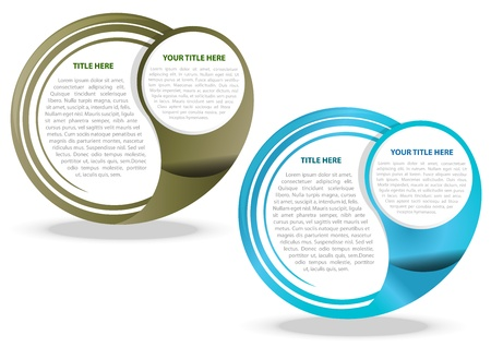 Ilustración de Two color vector abstract background for text - Imagen libre de derechos