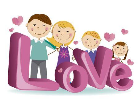 Ilustración de Vector image family - Imagen libre de derechos