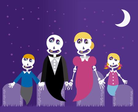 Ilustración de Family of ghost - Imagen libre de derechos