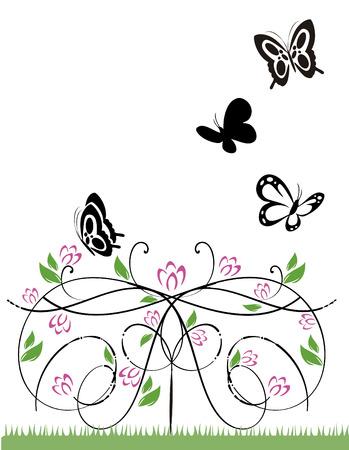 Ilustración de Vector image butterflies - Imagen libre de derechos