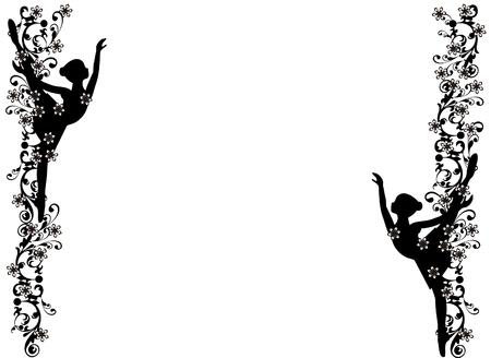 Ilustración de Image frame with ballerina - Imagen libre de derechos