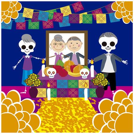 Ilustración de Vector image of day of the dead 16 - Imagen libre de derechos