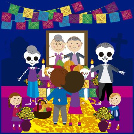 Ilustración de Vector image day of the dead 17 - Imagen libre de derechos