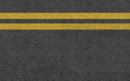 Photo for Double Yellow Line On New Asphalt Road texture background - Royalty Free Image