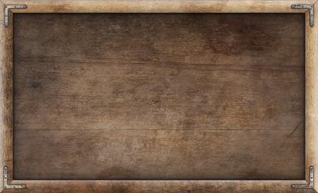 Foto de Old grunge wooden picture frame background - Imagen libre de derechos