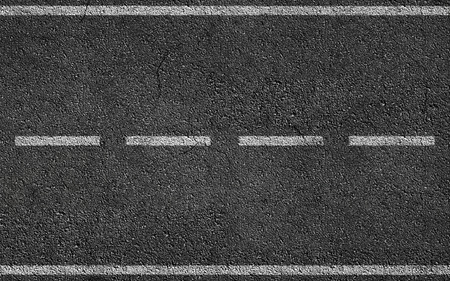 Foto de White Stripess On Asphalt Road texture background - Imagen libre de derechos