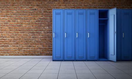 Foto de Empty locker room interior. 3d rendering - Imagen libre de derechos