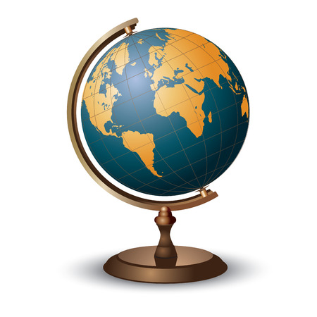 Illustration for Terrestrial globe on white. Vector illustration - Royalty Free Image