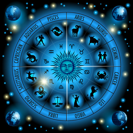 Ilustración de Circle of the zodiac signs. Vector Illustration - Imagen libre de derechos