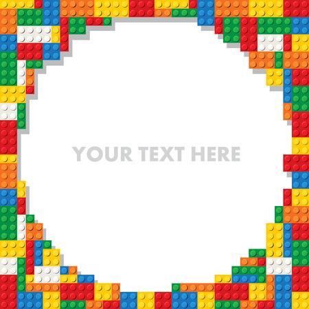 Photo pour Template of plastic construction parts for text. Vector illustration - image libre de droit