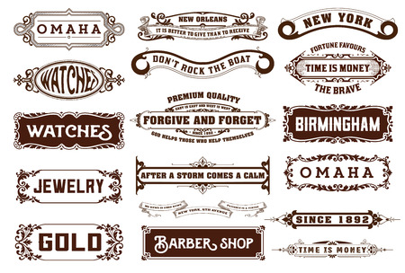 Illustration pour 17 Labels and banners. Vector - image libre de droit