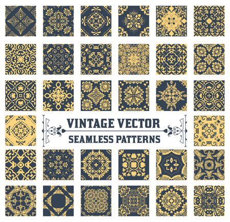 Illustration pour 34 Seamless Patterns Background Collection - image libre de droit