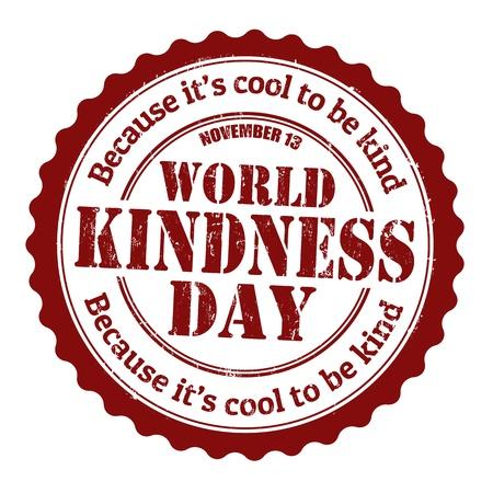 Ilustración de World kindness day grunge rubber stamp, vector illustration - Imagen libre de derechos