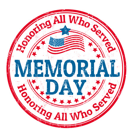 Illustration pour Grunge rubber stamp with the text Memorial day written inside, vector illustration - image libre de droit