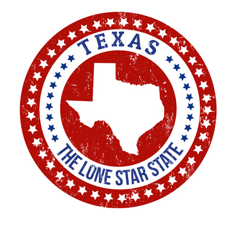 Illustration pour Vintage stamp with text The Lone Star State written inside and map of Texas, vector illustration - image libre de droit