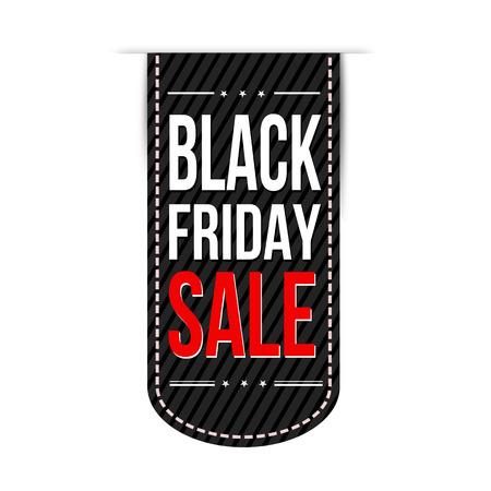 Illustration for Black friday sale banner design over a white background, illustration - Royalty Free Image
