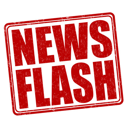 Illustration for News flash grunge rubber stamp on white background, vector illustration - Royalty Free Image