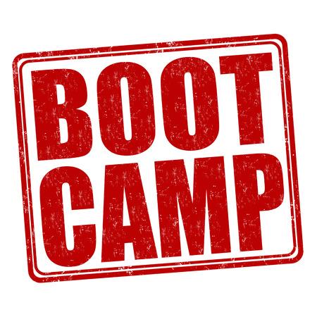 Illustration pour Boot camp grunge rubber stamp on white background, vector illustration - image libre de droit
