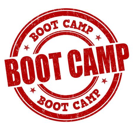 Ilustración de Boot camp grunge rubber stamp on white background, vector illustration - Imagen libre de derechos