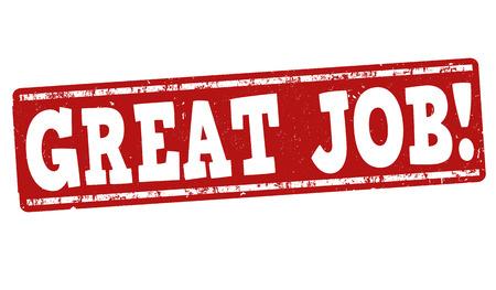 Ilustración de Great job grunge rubber stamp on white background, vector illustration - Imagen libre de derechos