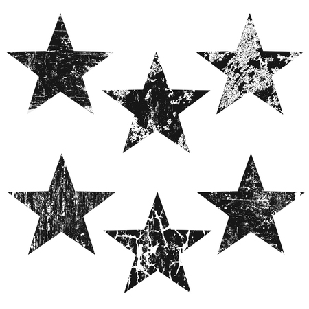 Illustration pour Grunge stars on white background, vector illustration - image libre de droit