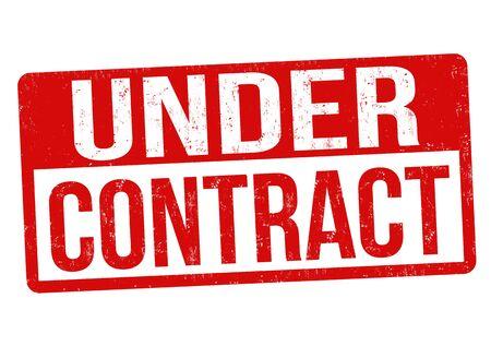 Illustration pour Under contract grunge rubber stamp vector illustration. - image libre de droit