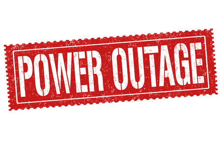 Ilustración de Power outage grunge rubber stamp on white background, vector illustration - Imagen libre de derechos