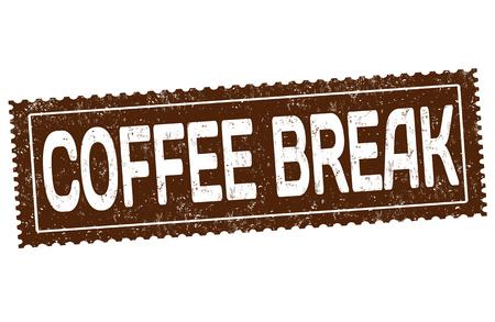 Illustration for Coffee break grunge rubber stamp on white background vector illustration. - Royalty Free Image