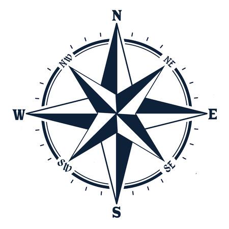 Ilustración de Compass icon on white background. Rose of Wind, vector illustration - Imagen libre de derechos
