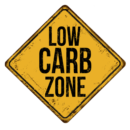 Illustration pour Low carb zone vintage rusty metal sign on a white background, vector illustration - image libre de droit