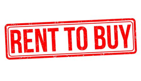 Illustration pour Rent to buy sign or stamp on white background, vector illustration - image libre de droit