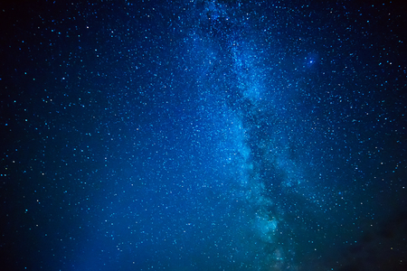 Photo for Night sky with lot of shiny star and Milky Way. Abstract natural astro background. - Royalty Free Image