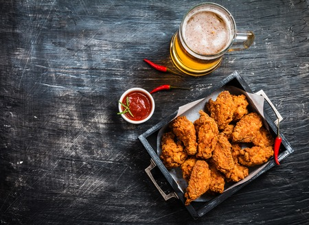 Photo for Buffalo style chicken wings - Royalty Free Image