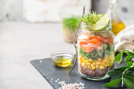Photo for salad in a mason jar - Royalty Free Image