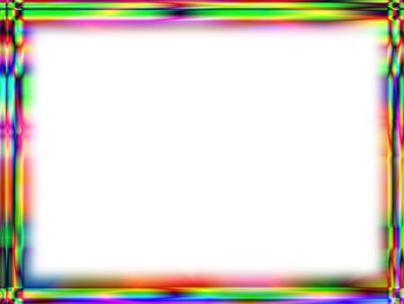 Photo for Unique rainbow gradient frame with white empty space for text - Royalty Free Image
