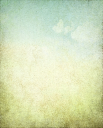 Photo for grunge background canvas texture with delicate abstract blue sky view - Royalty Free Image