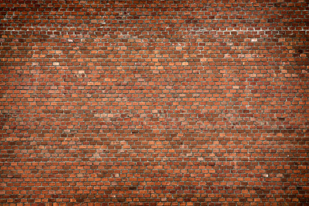 Photo pour red brick wall texture grunge background with vignetted corners, may use to interior design - image libre de droit