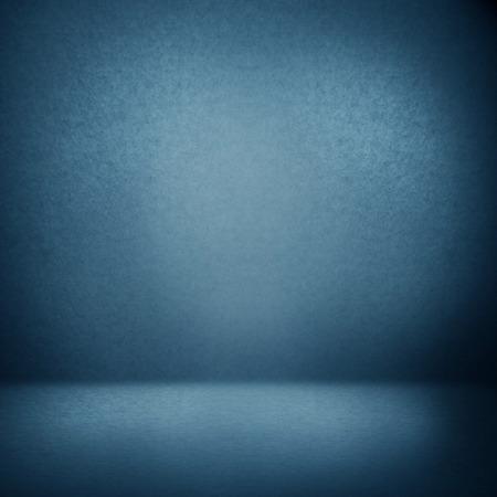 Foto de blue abstract interior background suede paper texture, empty photo studio room wall and floor - Imagen libre de derechos
