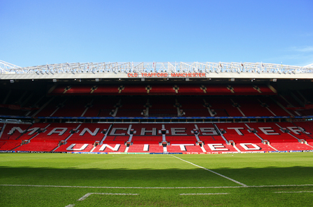 Foto de Old Trafford stadium, Manchester, England - Imagen libre de derechos
