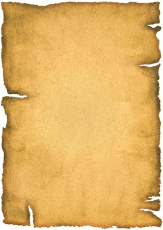Photo for Old parchment isolated on a white background - Royalty Free Image