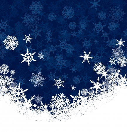 Illustration for Snowflakes - Snowflake Christmas Card Background with Copy Space - Royalty Free Image