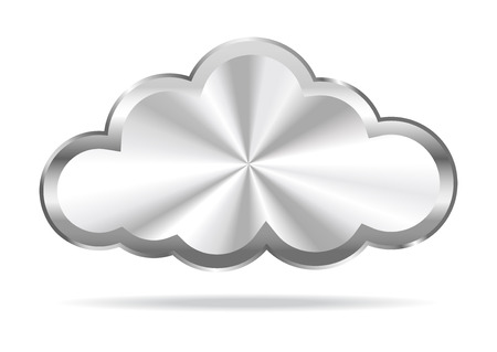Illustration pour Cloud Computing - Virtual Cloud Icon - image libre de droit