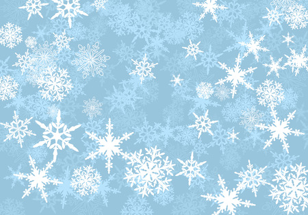 Illustration for Abstract Powder Blue Snowflakes Background - Royalty Free Image