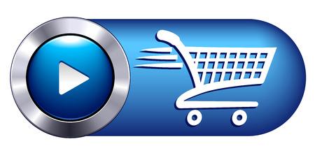 Illustration pour Check Out Icon Symbol Button shopping websites - image libre de droit