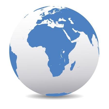 Illustration pour Africa Global World - image libre de droit