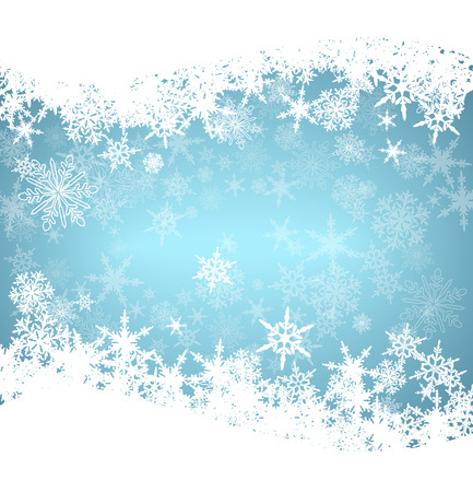 Illustration pour Christmas Snowflakes Card - image libre de droit