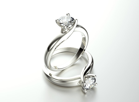 Photo for Ring with Diamond. Jewelry background - Royalty Free Image