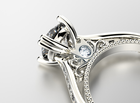 Photo pour Engagement Ring with Diamond - image libre de droit