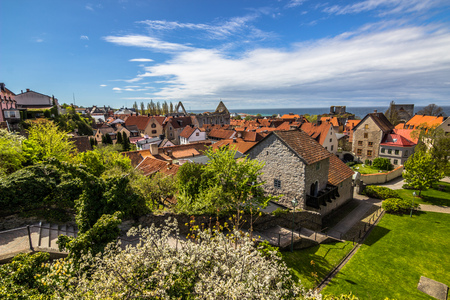 Photo for Visby, Gotland - May 15, 2015: Panorama of the town of Visby in Gotland, Sweden - Royalty Free Image