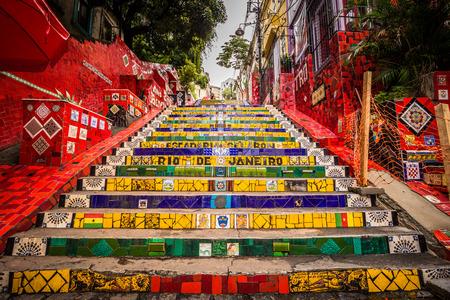Foto de Rio de Janeiro - June 21, 2017: The Selaron Steps in the historic center of Rio de Janeiro, Brazil - Imagen libre de derechos